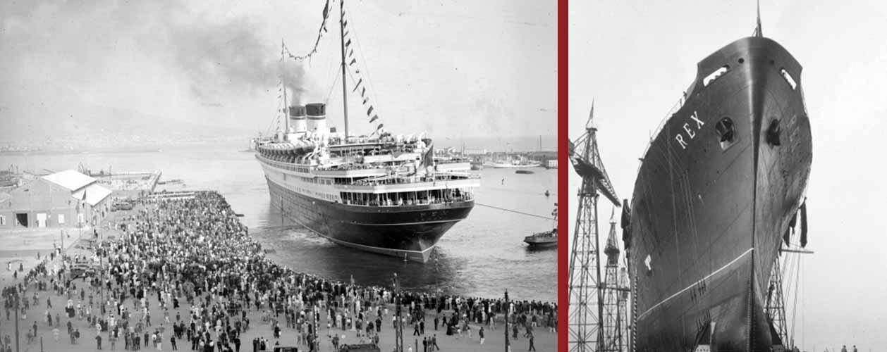 Costruzione, varo e partenza del REX, la nave dei sogni