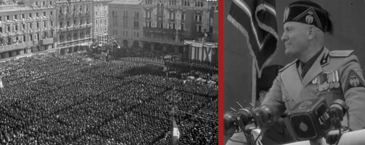 Trieste 18 settembre 1938, Mussolini annuncia le leggi razziali