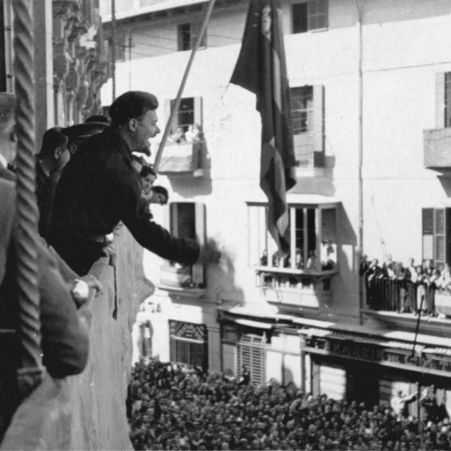 """Arconovaldo Bonacorsi, alias """"conde Rossi"""", a Palma di Maiorca, autunno 1936 ©Archivio Storico MAE"""