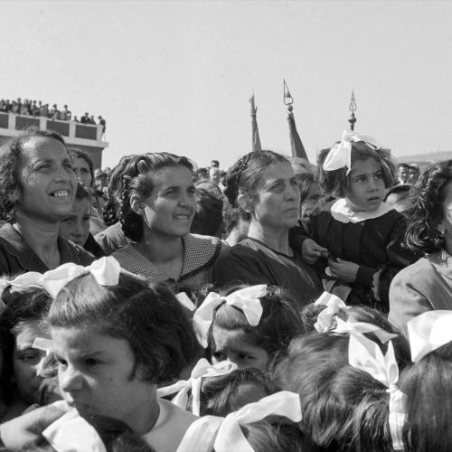 Comizio di De Gasperi in Calabria, 1952