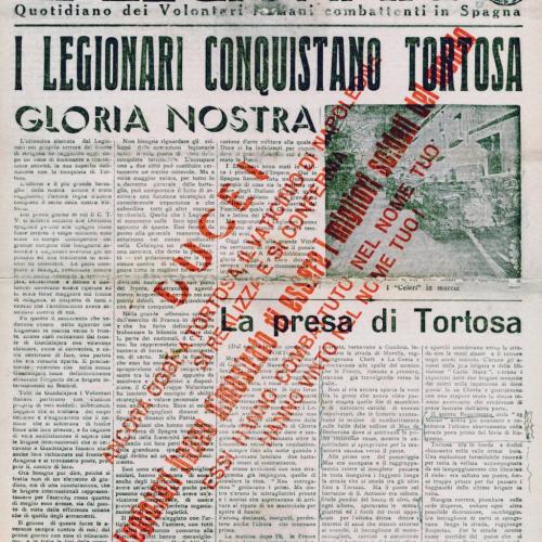 El Legionario, giornale di trincea per i legionari italiani ©Fondazione Gramsci Emilia-Romagna