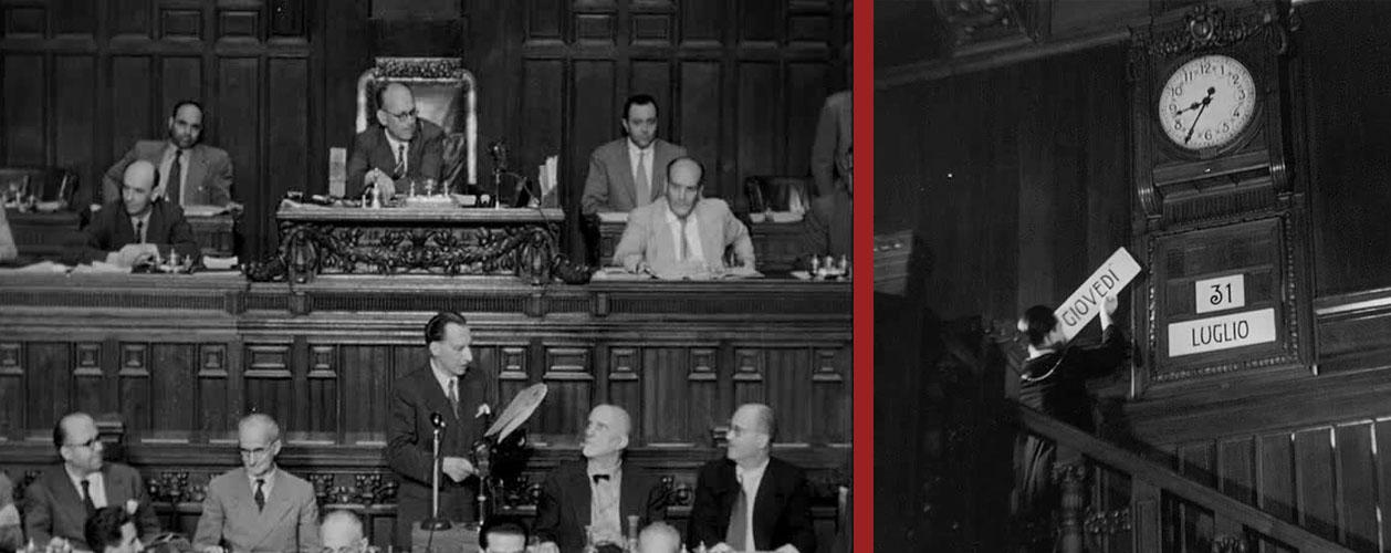 Montecitorio, il giorno della ratifica del Trattato di Parigi